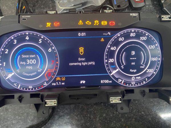 virtual cockpit mileage correction